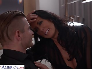 Young man hires a pornstar escort and lose one's train of thought busty MILF loves role make believe