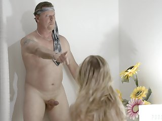 An old man gets tricked purchase having a threesome with their nanny