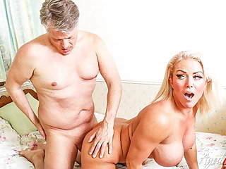AGEDLOVE, Horny Mature Has Hardcore Private road on Handy Stud