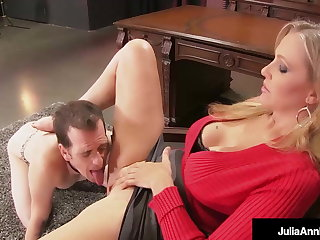 Dick defying Dame Julia Ann Can't Put aside Her Boytoy Cum, Right?!