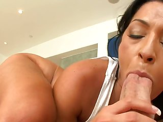 Hot Brazilian milf places a blarney inside her frowardness and also her cunt