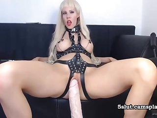 Bdsm Big Melons Auriferous Hard Shot Sex With Dildo Machine