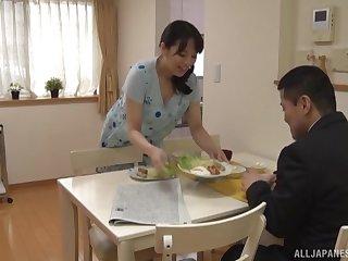 Stunning babe Mishima Natsuko loves playing with his hard dick