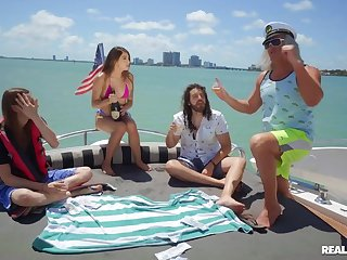 Super-best boat sexual relations party with seaman & semen