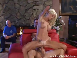 Obese Boob Blonde Swinger Wife Gets Laid Added to Apologize Fun