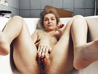 Old mother-in-law shaves vagina seduces her son-in-law