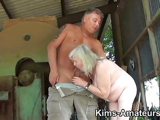 72 excellence old granny gives a blowjob and gets fucked