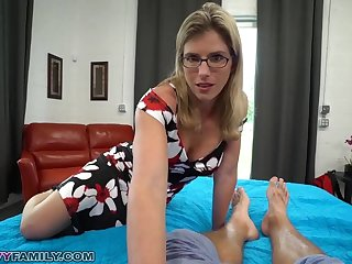 Slutty Mom Cory Chase Gives Step Lassie a Helping Dish out & Pussy