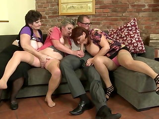 Old slut mothers suck and fuck shriek their sons