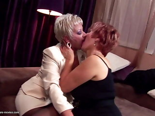 Kinky moms and grannies fuck and piss take boy
