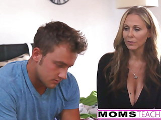 MILF Julia Ann Threeway Approximately Step-Son & Teen Creampie