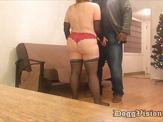 Pizza Man Bareback Creampie Big Butt Cougar MILF