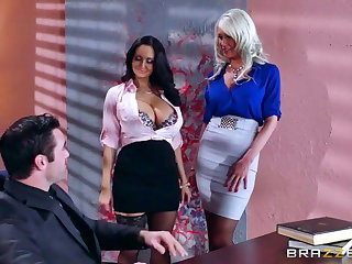 Brazzers - Sexy threesome in the berth