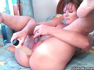 British grannies Joy and Becky love anal feign