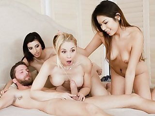 FamilyStrokes- Naughty Teens Blackmail MILF Into Gender
