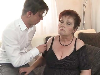 Bigtit granny suck coupled with fuck college boy