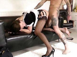 Glamorous matured maid gets fucked