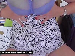 The British Upskirt Panty Pervert visits Auntie Shirley