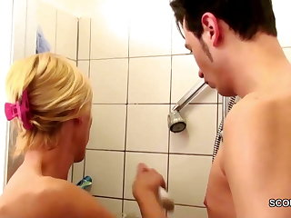 German MILF Seduce upon Fuck by Step-Son Big Dick hither Shower