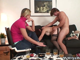 She is watching mother in law taboo sex