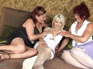 Two amateur mature lesbians truck garden a hot girl
