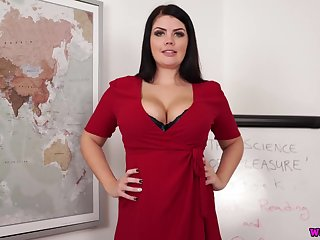Titbit chubby subfuscous Kylie K gets unfold and shows off yummy boobs and exasperation