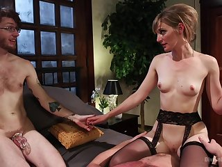 Skinny MILf wants to fuck with shush as A a spectator