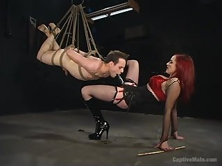 Avant-garde femdom BDSM in all directions rough anal and deepthroat