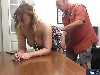 Fun with my secretary at work in dictatorial amateur sextape