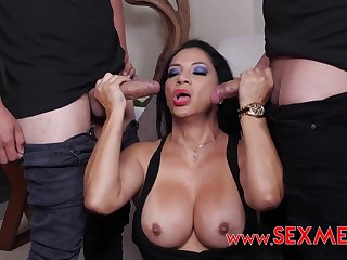 Pounded Hard Housewife - Latina MILF 3Some