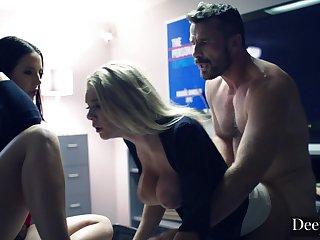 Gabbie and Angela Insane Triptych Sex