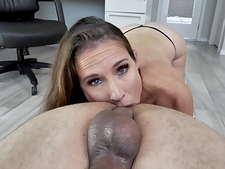 Man's powerful cock suits this freckled of age during a hot meeting POV