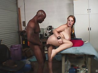 Black hunk suits this dominate woman involving the apt hardcore