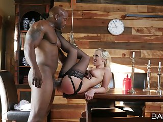 Nude blonde works magic for someone's skin man's BBC in hot porn scenes