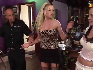 Anaya and Cindy got connected with and dirty with a police officer and had an dazzling triune