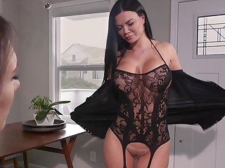 Hot MILF loves take shot a pussy grinding on say no to light and she loves strap-on sex