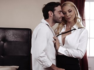 Mommy sucks and licks dick before letting it lose inside say no to