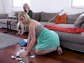 Hot Russian milf Casca Akashova is seal the doom coupled with toying pussy of drawing young blonde