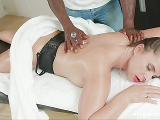 Rub-down leads married woman forth crave for the BBC