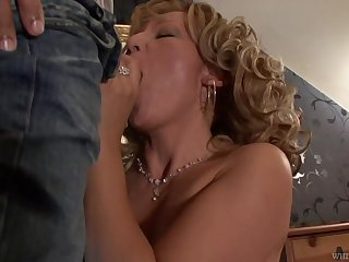 Beautiful granny Lorin has an affair with handsome house-servant
