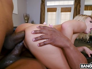 Two outrageous jocks bangs anus and pussy of insatiable nympho Adriana Chechik