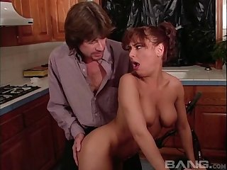 Smooth puss fucking there the kitchen for gorgeous amateur Lennox