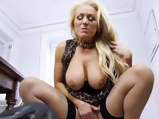 Milf finger fuck on couch and partner's brother '