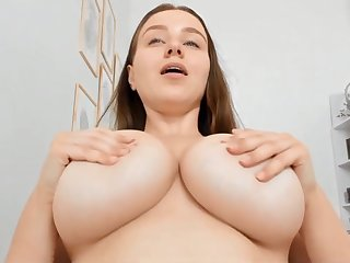 Chubby breasts amateur solo webcam show