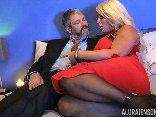 Chubby kirmess lady take huge boobies Alura Jenson is hammered doggy style