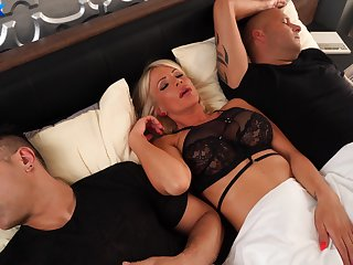 MILF gets the dick from both spouse and her step son