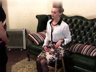 Femdom spanking and humiliation