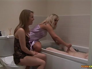 Homemade video be proper of wife Jessica Pressley and Karlie Simon giving HJ