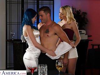 Hot boy is fucke dby two sex-crazy chicks Kenna James and Jewelz Blu