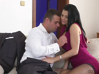 Man's steel inches suit this elegant MILF with the best hard sex